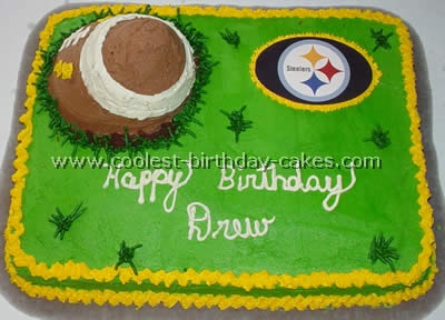 Awesome Football Birthday Cake