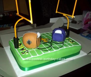 Coolest Saints Vs Vikings Football Cake