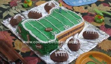 1st Birthday Football #1 cake