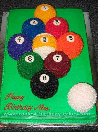 free cake recipes and ideas for billiards cakes 4
