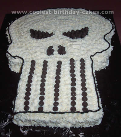 Skull Cake - Free Cake Decorating Idea