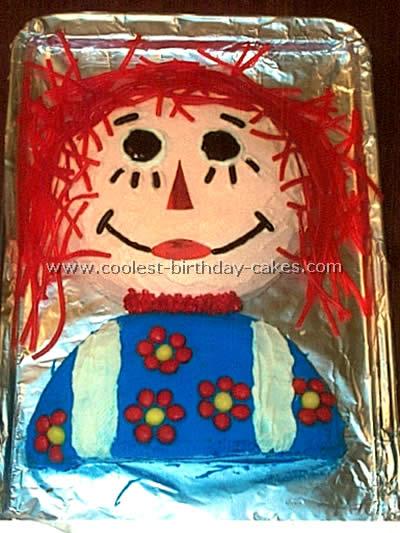Raggedy Ann Fun Cake Design