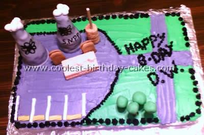 Science Theme Fun Cake Designs