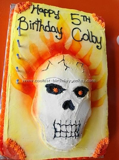Ghost Rider Cake Photo