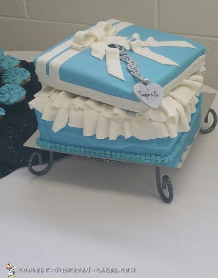 Cool Breakfast At Tiffany's Bridal Shower Cake