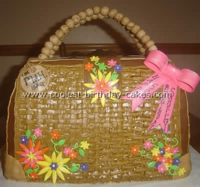 Purse-Shaped Girls Birthday Cake