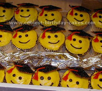 Cupcake Faces Face Graduation Cupcake