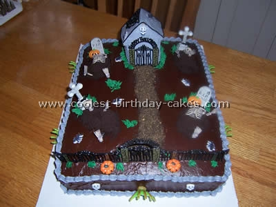 Coolest graveyard cake ideas photos and how to tips for Easy halloween cakes to make at home