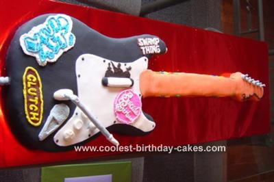 Rock Band Guitar  Cake