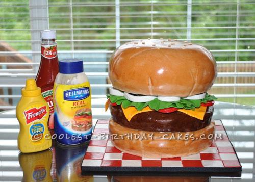 Awesome Giant Hamburger Cake