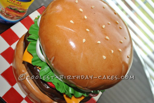 Awesome Giant Hamburger Cake