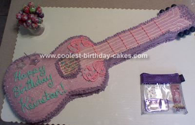 Hannah Montana Guitar Cake