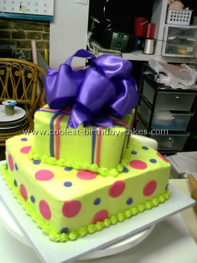 Coolest Gift Wrapped Box Happy Birthday Cake Ideas