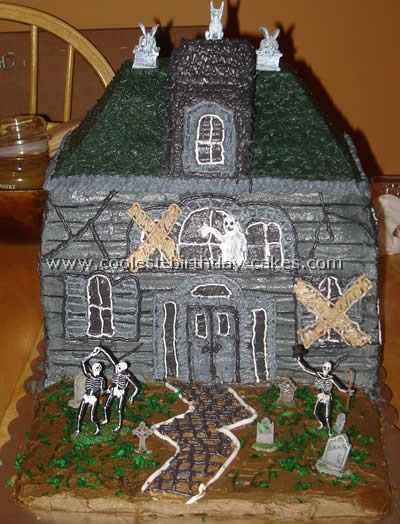 Haunted House Tips Haunted House Cake Photo