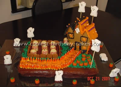 Haunted House Tips Haunted House Cake Photo