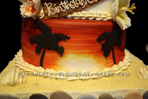 Beautiful Hawaiian Cake