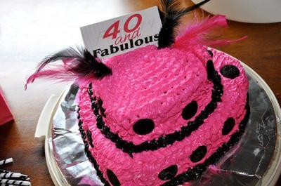 Coolest 40 & Fabulous Cake
