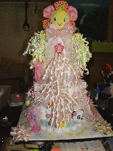 Front of diaper cake