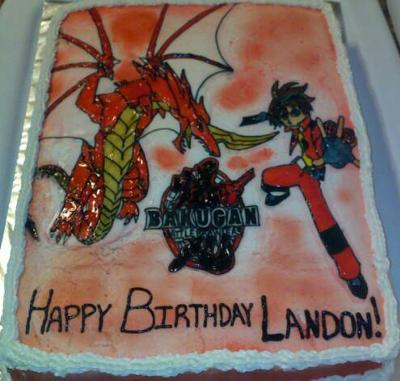Bakugan Battle Brawlers Cake