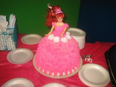 Barbie cake for 3 yr old