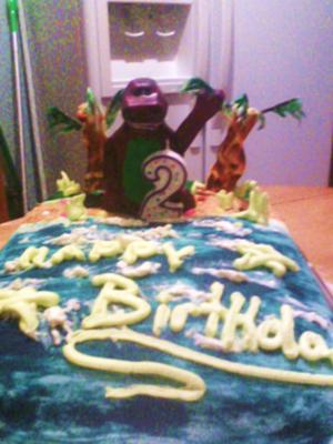 first fondant cake for my sons 2nd birthday