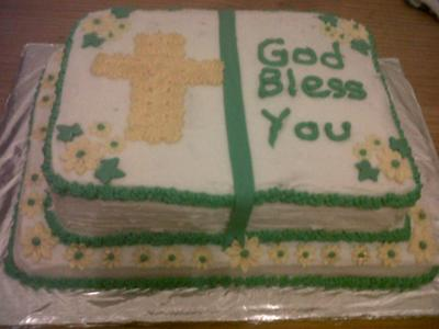 Bible Birthday Cakes http://www.coolest-birthday-cakes.com/homemade-bible-cake.html