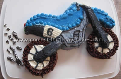 Coolest birthday cake ideas for Motorbike template for cake