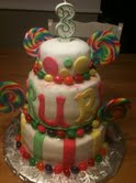 3 tier candy cake