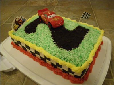 Lightning Mcqueen Disney Cars Birthday Cake