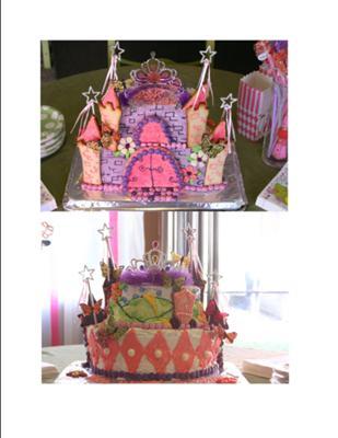 Lily's 5th Princess Birthday cake!