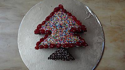 Colorful Christmas Tree Cake