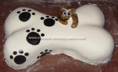 Doggie Birthday Cake on Homemade Dog Bone Cake