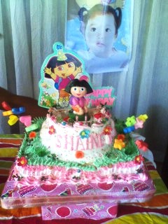 Dora  Explorer Birthday Cakes on Homemade Dora The Explorer Birthday Cake And Cupcakes