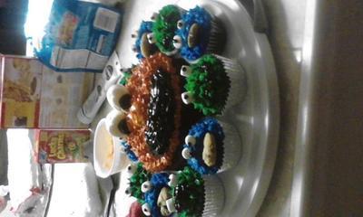 elmo smash cake