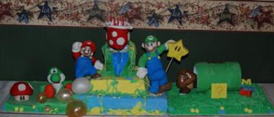 Kayden's Mario and Luigi Cake