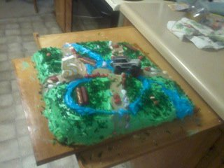 Picture of off road cake from top