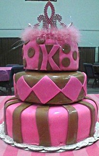 Pink Brown 3 tier
