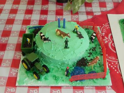 Braydens Personal Down on the Farm BD Cake 2011