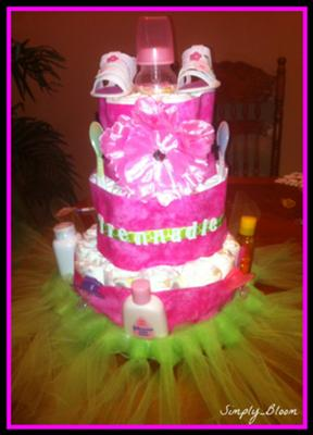 Simply Bloom Girl Cake