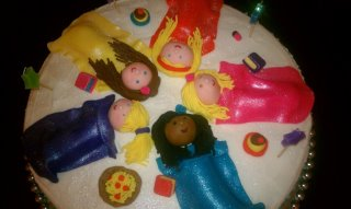 Sleepover cake - more cake showing