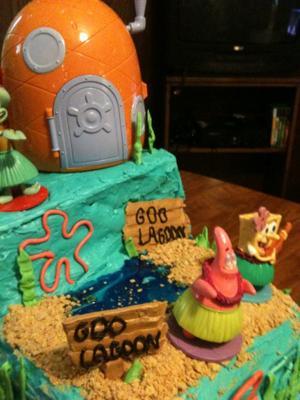 Coolest Spongebob Goo Lagoon Cake