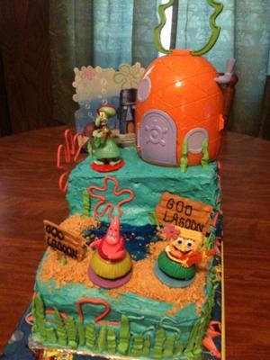 Spongebob Goo Lagoon Cake