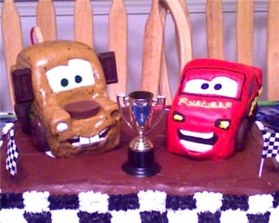 Coolest Tow Mater From Cars Cake