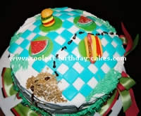 Picnic Table Cake