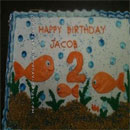 Fish Bowls and Aquariums Birthday Cakes