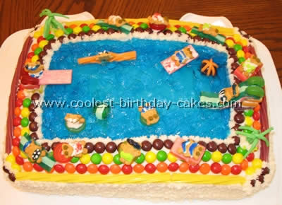 Coolest Pool And Jello Cake Recipe Ideas For A Splashy Party