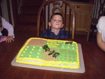 John Deere Cake. by Sherri (Menominee, MI). For my son's 3rd birthday,