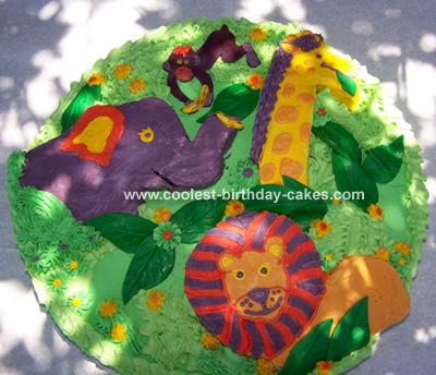 Birthday Cake on Jungle Cake 25