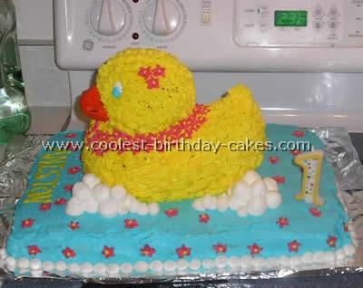 Coolest Rubber Ducky Kid Birthday Cake Ideas