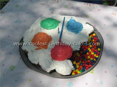 Artist Palette Cake Template : Coolest Kid Birthday Cake Ideas and Photos